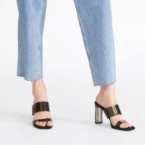 Zara vinyl sandals with methacrylate heel